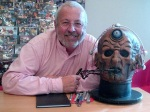 Terry Molloy with Davros Head