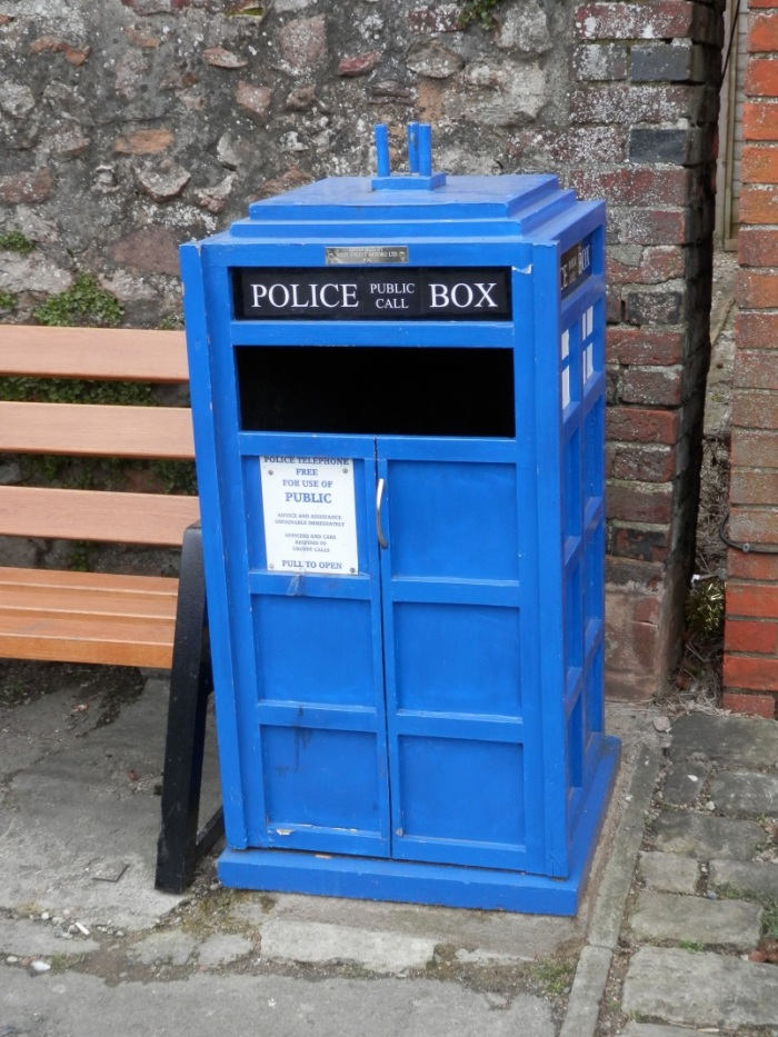 TARDIS wastebin in Aldbourne