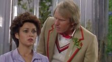 Fifth Doctor and Tegan in Kinda