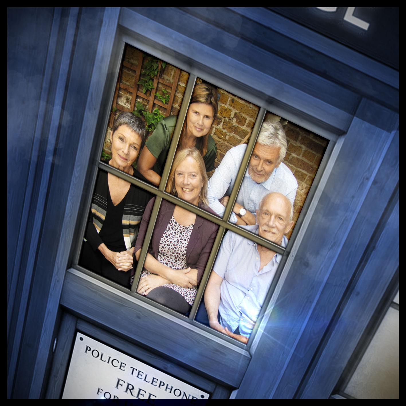 Ace (Sophie Aldred) and the CounterMeasures team (Simon Williams, Pamela Salem, Karen Gledhill and Hugh Ross)