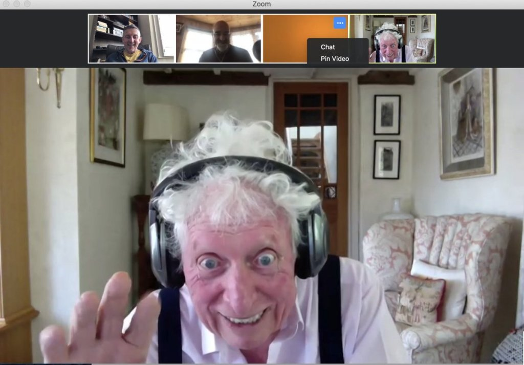 Tom Baker records remotely