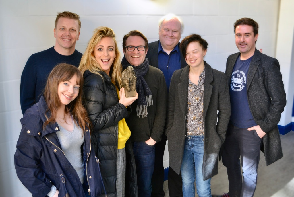 Cast of Doctor Who: The Lovecraft Invasion and writer Robert Valentine